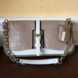 Longchamp Leather Chain Link Flap Shoulder Bag